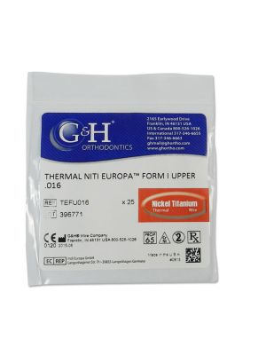 G&H Copper Niti Thermal Euroform Wire Pack of 25 Pcs (In Zip Bags)