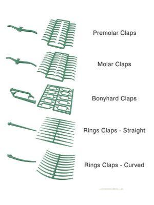 Dentaurum Waxes Preformed Clasps Green 200/pk